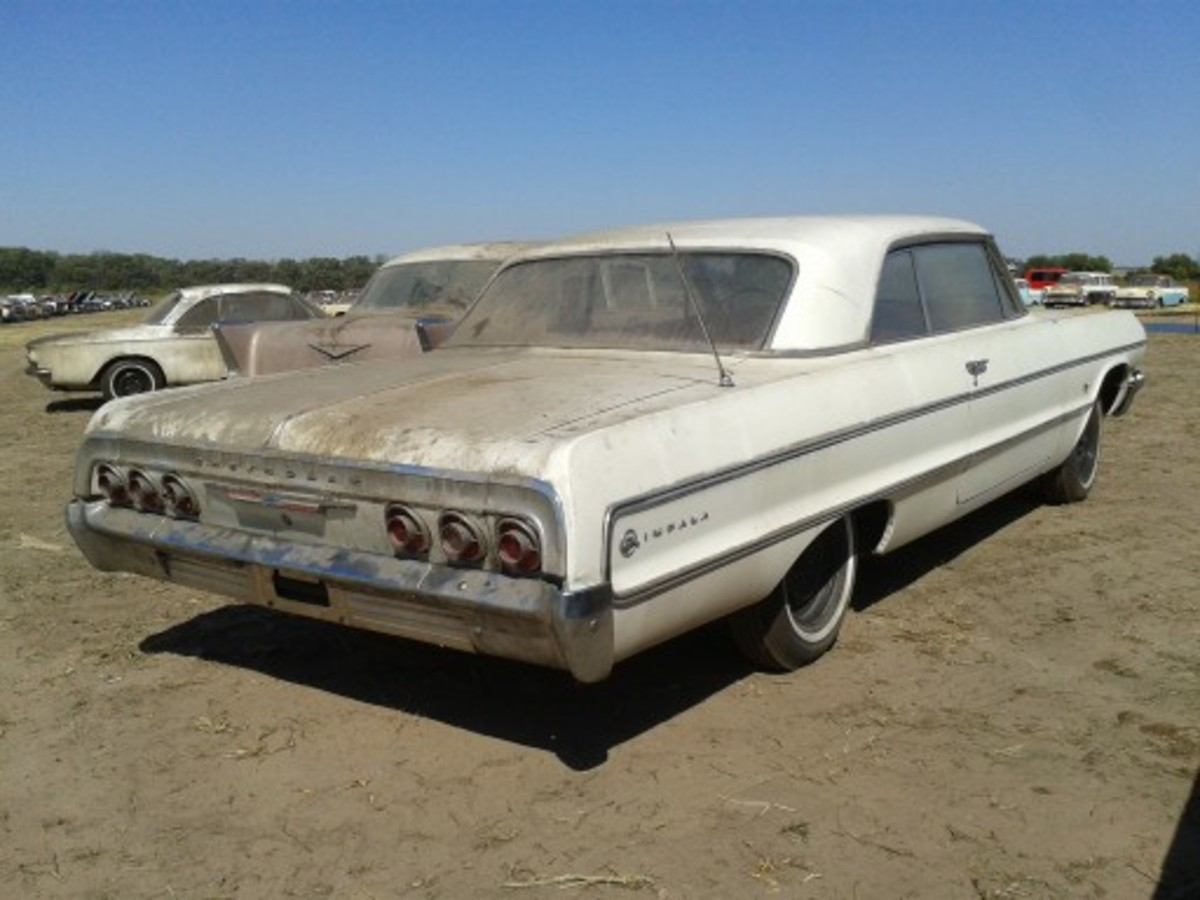 This 1964 Chevrolet Impala Sport Coupe (two-door hardtop) could be seen through the front window of Lambrecht Chevrolet for decades. It has 4 miles on the odometer, its window sticker still clings to the glass and it is still on MSO. It sold for $75,000