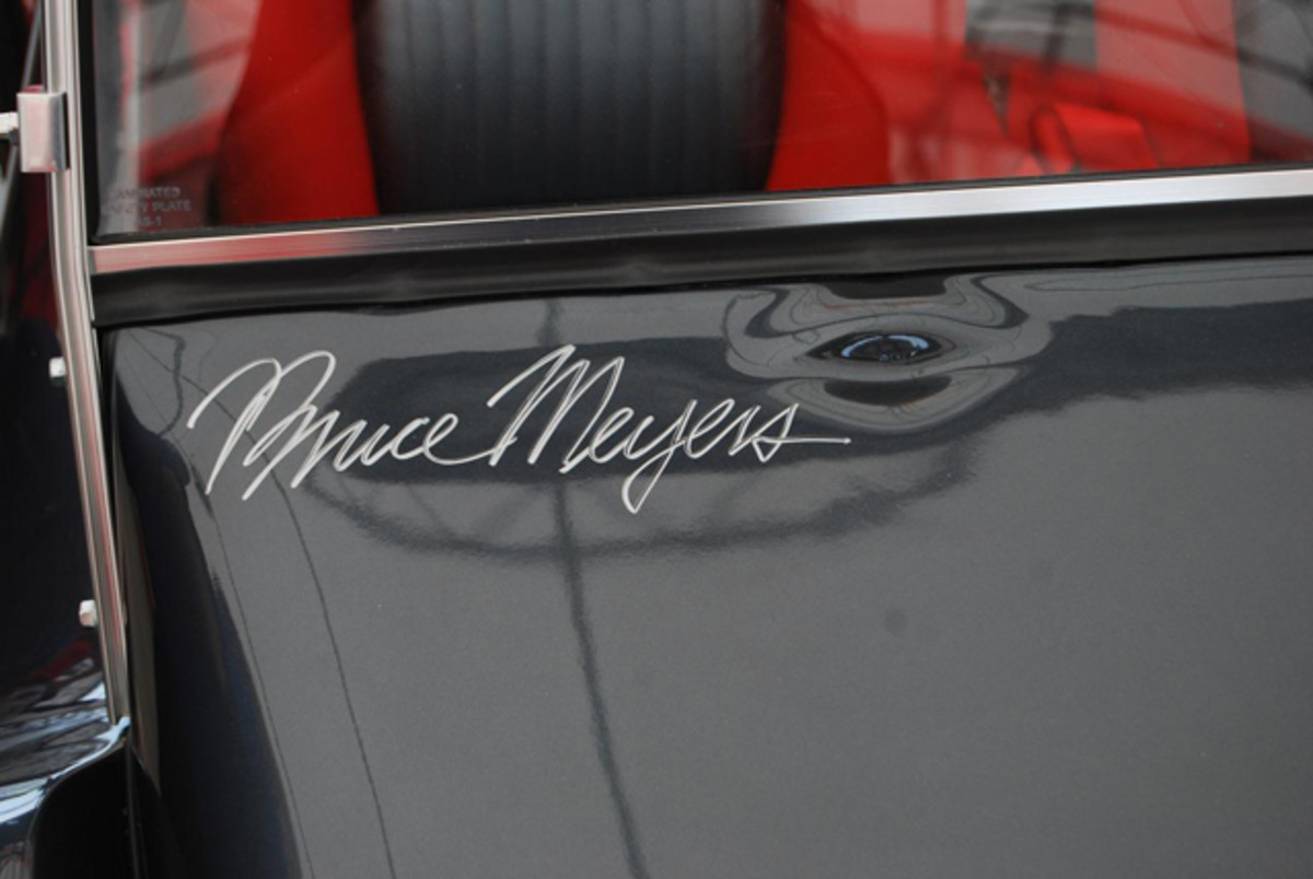 Meyers signed one of his creations for a collector.