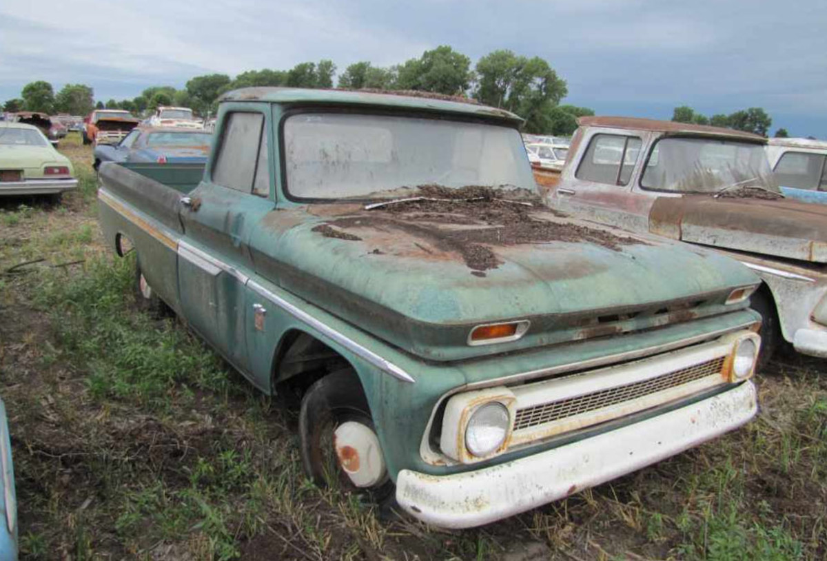 There are 5 miles on this 1964 Chevrolet C10 in the Lambrecht Collection. Since there are at least 16 Chevrolet trucks from 1963-66, look for these to be relative bargains.
