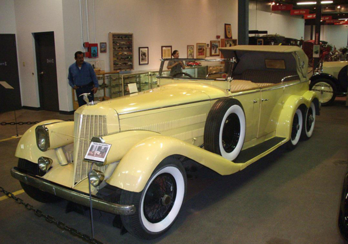 This 1923 Hispano Suiza has four doors and four rear wheels. It is part of Denver's Forney Museum of Transportation.