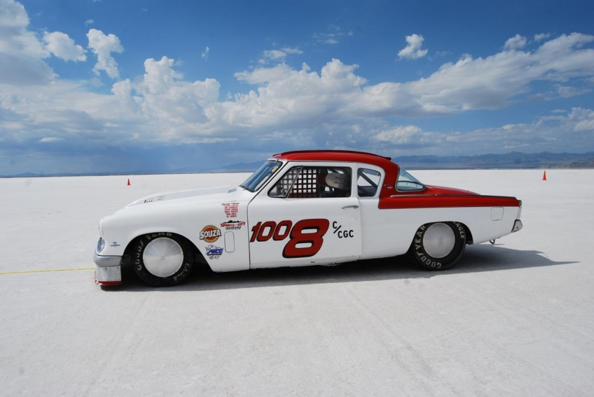 Old Studebakers are even popular at the Bonneville Salt Flats.