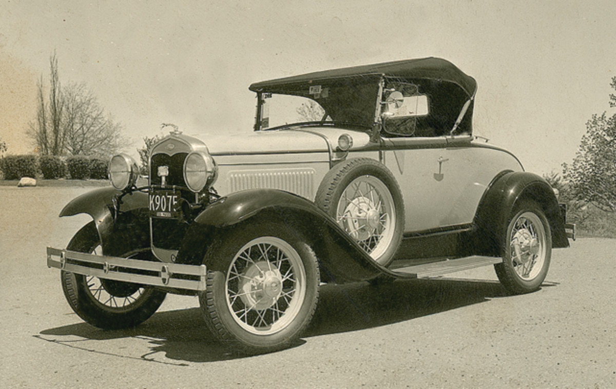 Zeke and Molly Hill owned a 1930 Model A roadster similar to this one. This original Model A was photographed in 1955.