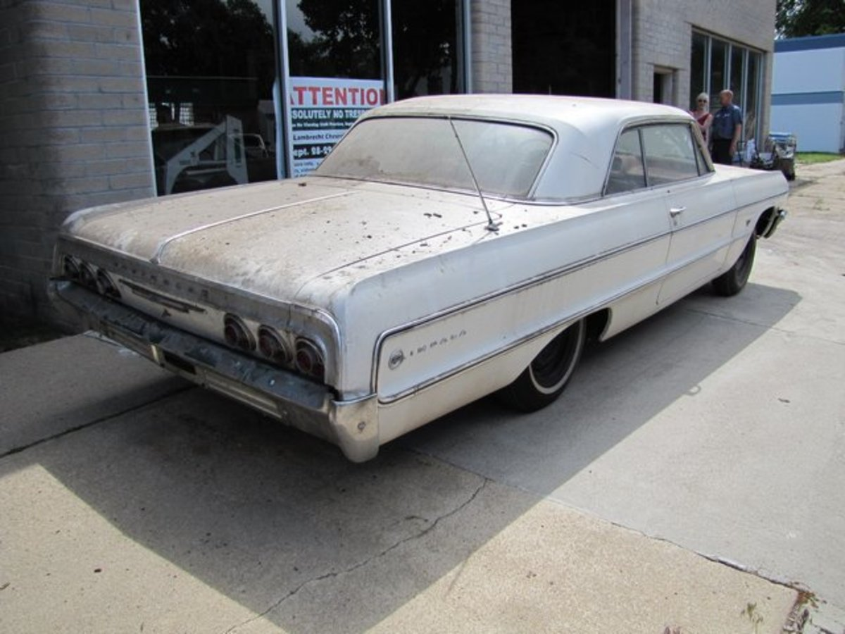 This 1964 Chevrolet Impala is among the cars in the Lambrecht Collection that was stored inside.