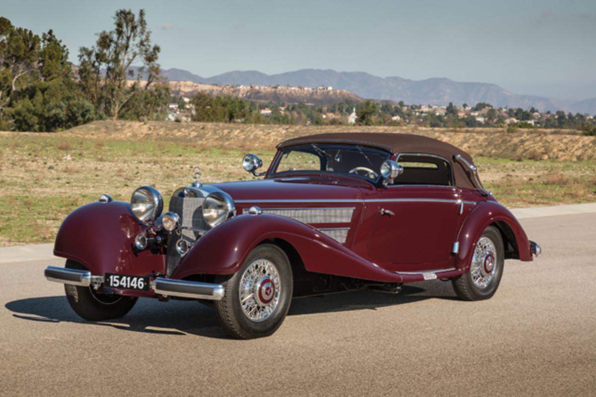 1937 Mercedes-Benz 540 K Sport Cabriolet at RM Auctions. (Evan Klein, Courtesy RM Auctions)