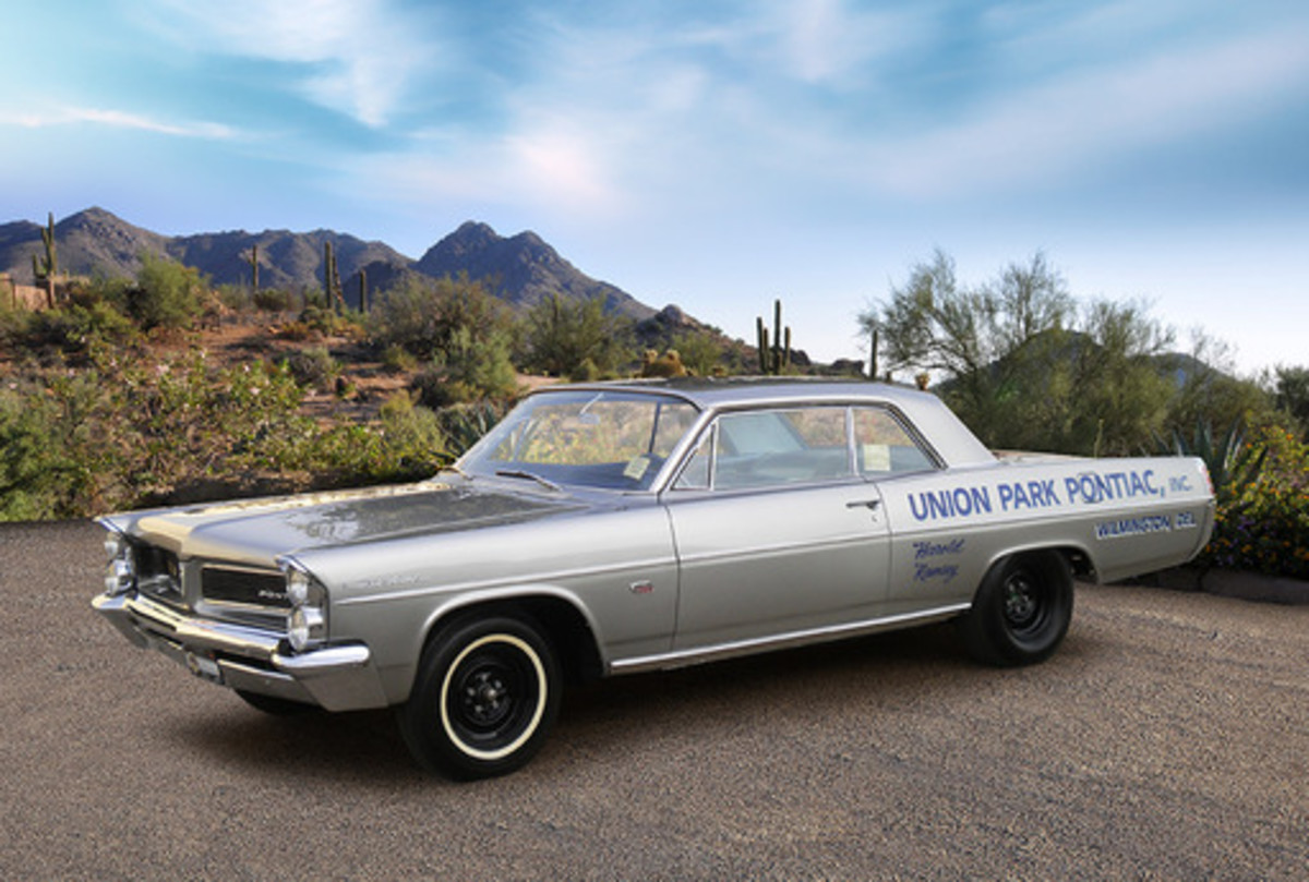 """This 1963 Pontiac Catalina """"Swiss Cheese"""" factory lightweight is one of 14 built and 9 remaining."""