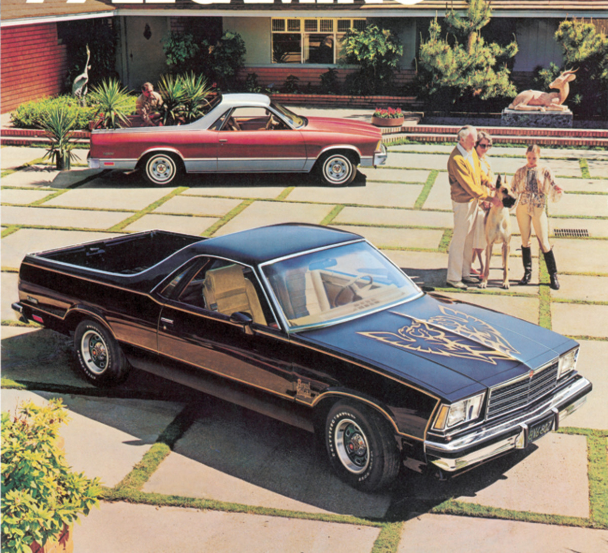 The Royal Knight package for 1979 helped dress up the El Camino SS with a distinctive paint and decal scheme.