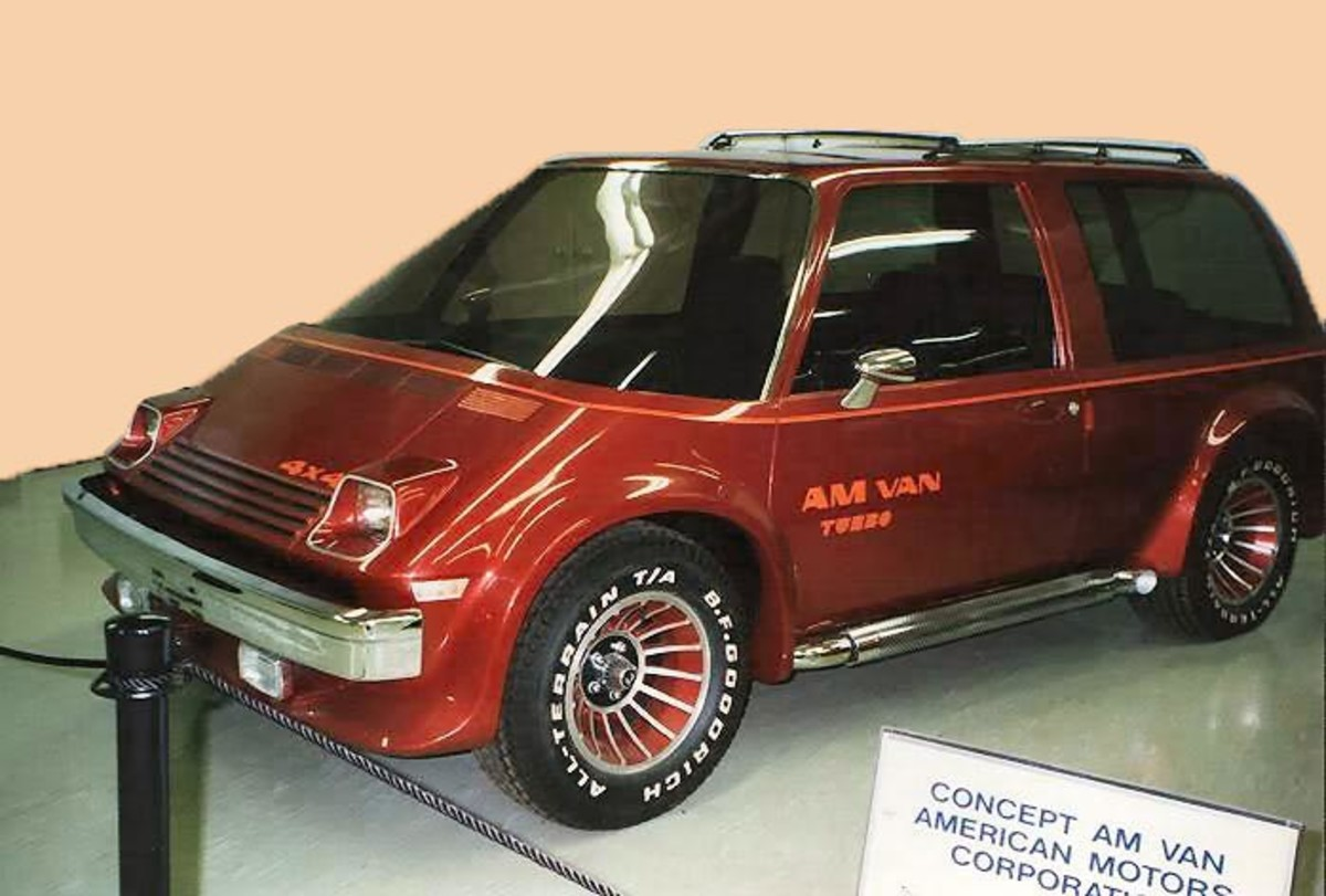 The 1977 AMC AMVAN concept styling mock-up will be on dispaly in Kenosha County during the AMO Kenosha Homecoming.
