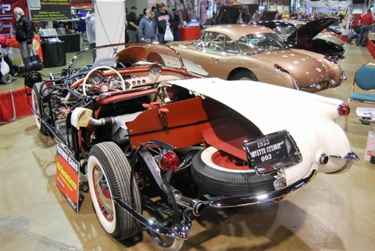 Cutaway 1953 Corvette was fabricated by Kevin Mackay at Corvette Repair, Inc., in Valley Stream, N.Y. for owner Ed Foss of Indiana.