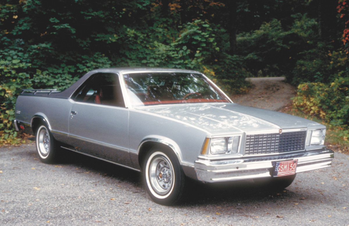 The 1978 El Camino received a longer wheelbase, a few cosmetic changes and a new V-6 engine.