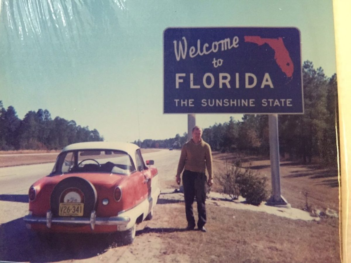 Kenny and his mother drove from Wisconsin to Florida in this Metropolitan - and made it! It was a low-budget trip and they bought peanut butter and jelly to keep the cost of filling their stomachs low, and spent only $40 keeping the gas tank full on the way down and back!