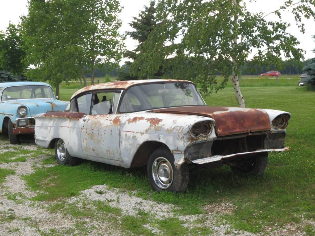This1958 Chevrolet (along with a companion four-door) will be included in the sale.