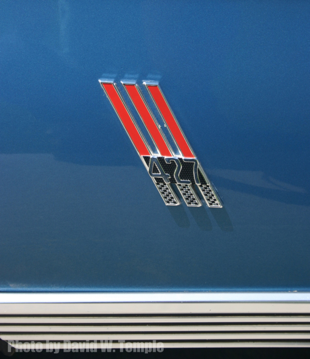 This parallelogram-shaped 427 badge was installed on just two 1966 Galaxie 500 7-Litre convertibles.