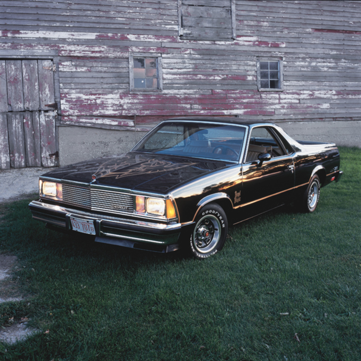 Striking paint, striping and decals made the 1981 El Camino Royal Knight hard to miss.