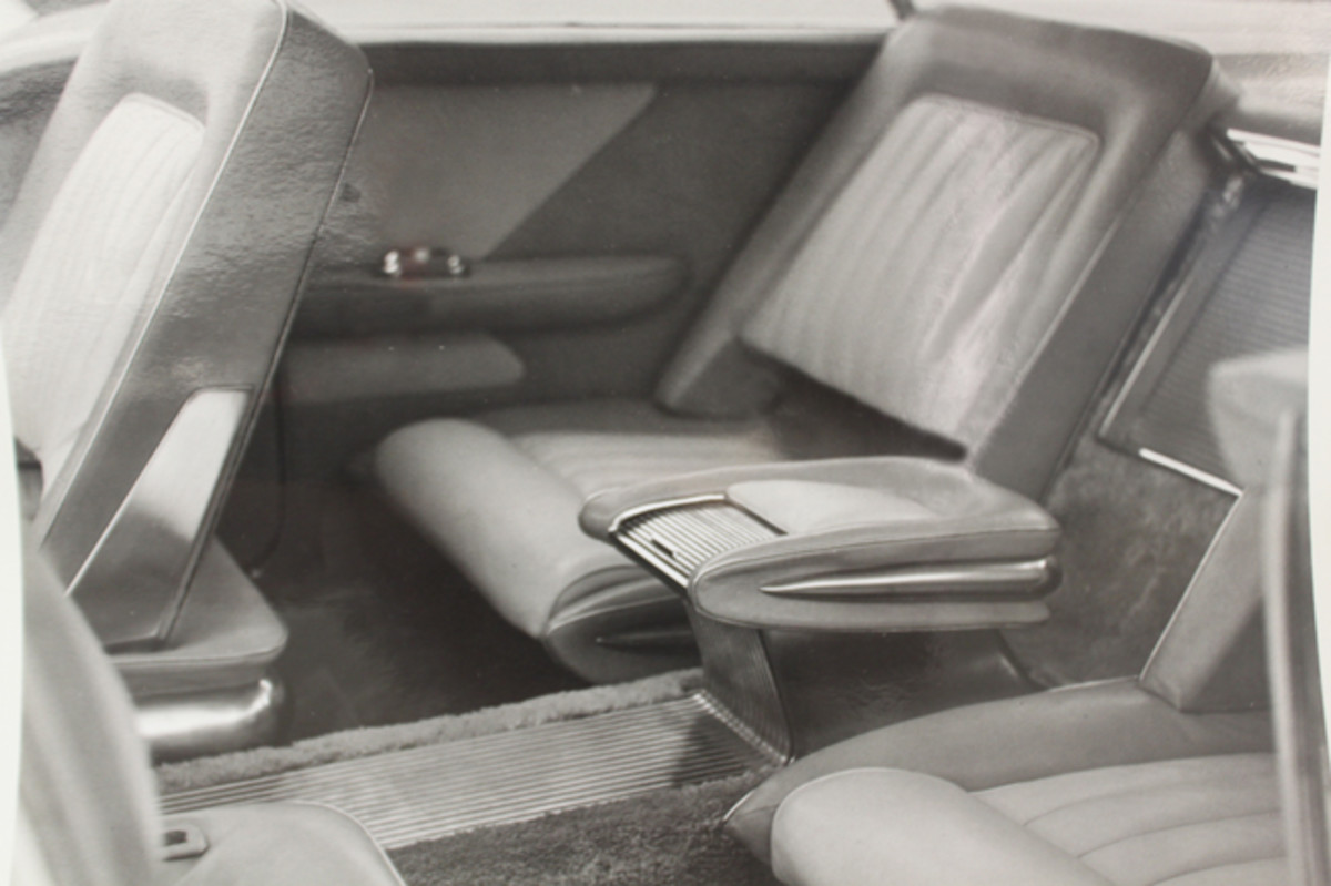 An image of the interior when the car was new.