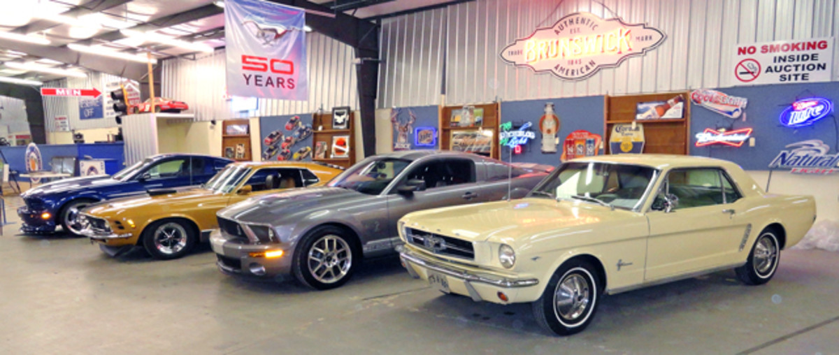 Stable of Mustangs for sale.