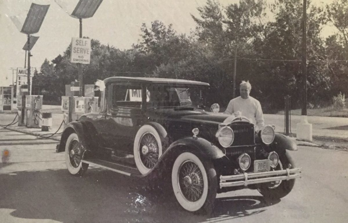 One of Kenny's favorite cars that he had owned was this 1930 Packard coupe that had been owned by an heiress in Oshkosh, Wis., who was chauffeur-driven in the car. It is believed to be in Texas now.