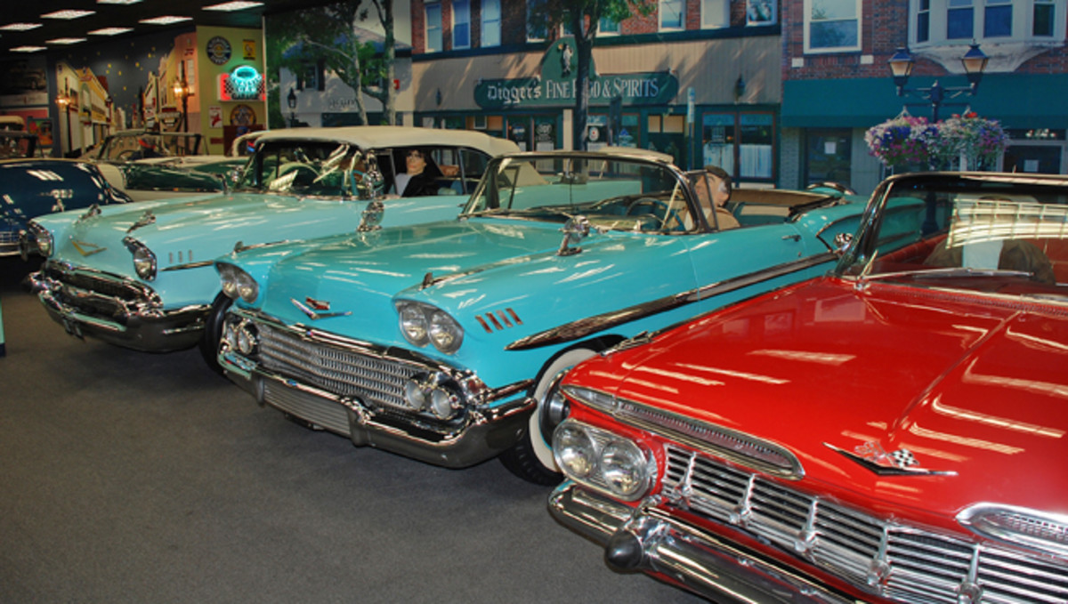 Yesterday's Chevrolet takes a front seat at the Dezer Collection Museum with these 1957, 1958 and 1959 convertibles.