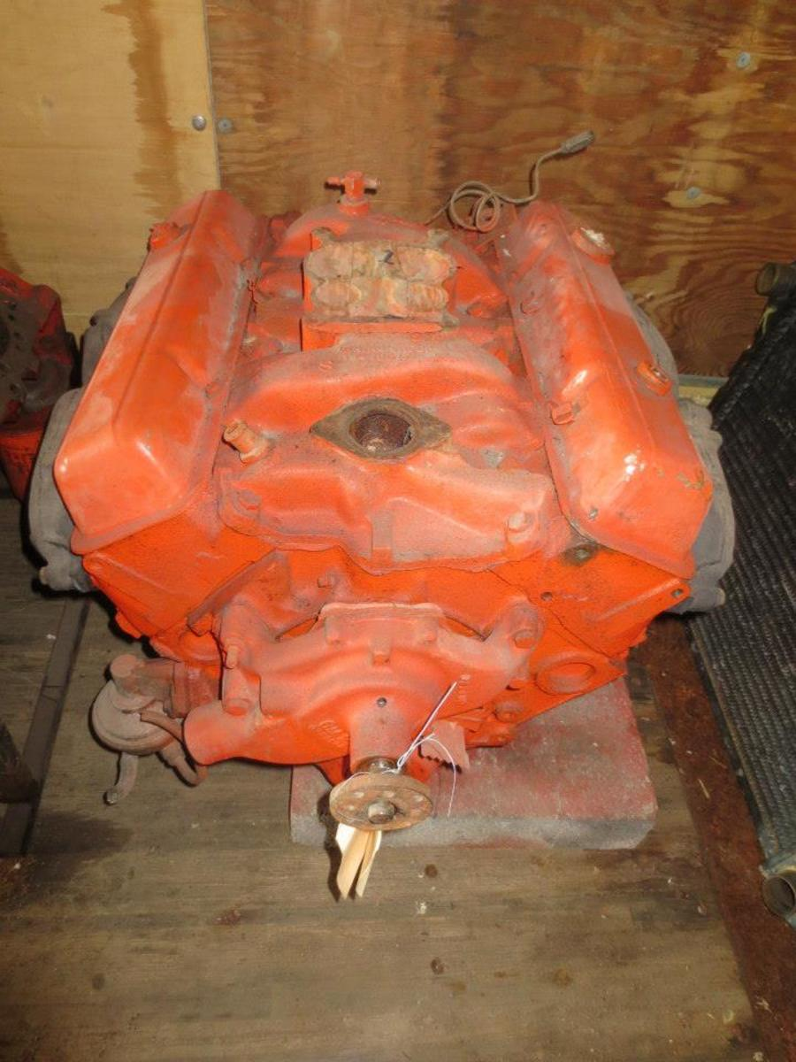 One of the many engines offered in this sale. This one is a 327 V-8.