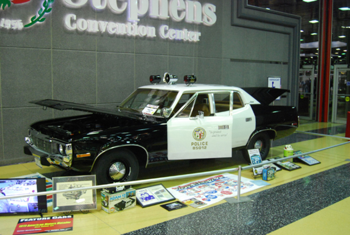 Mike Spina's One Adam-12 police car, a 1973 AMC Matador, would be a perfect fit to the 2018 Iola show theme. It was displayed in the lobby at MCACN.