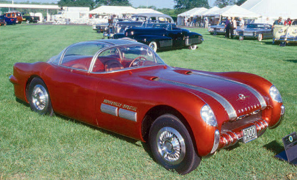The 1954 Bonneville Special was one of the two Pontiacs shown at the 1954 Motorama. It is in completely original condition and has about 400 miles on the odometer.