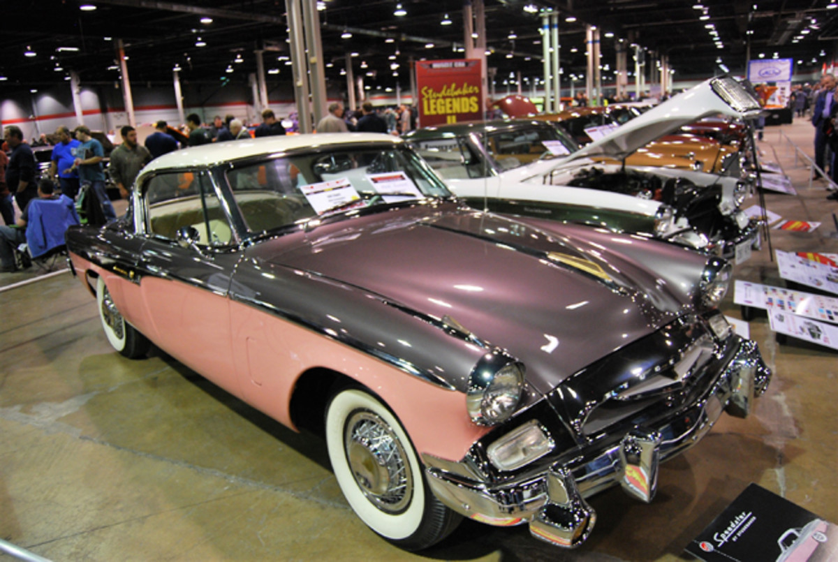 This 1955 Studebaker Speedster owned by Bill Clark was a Pick Award winner at the muscle car show.