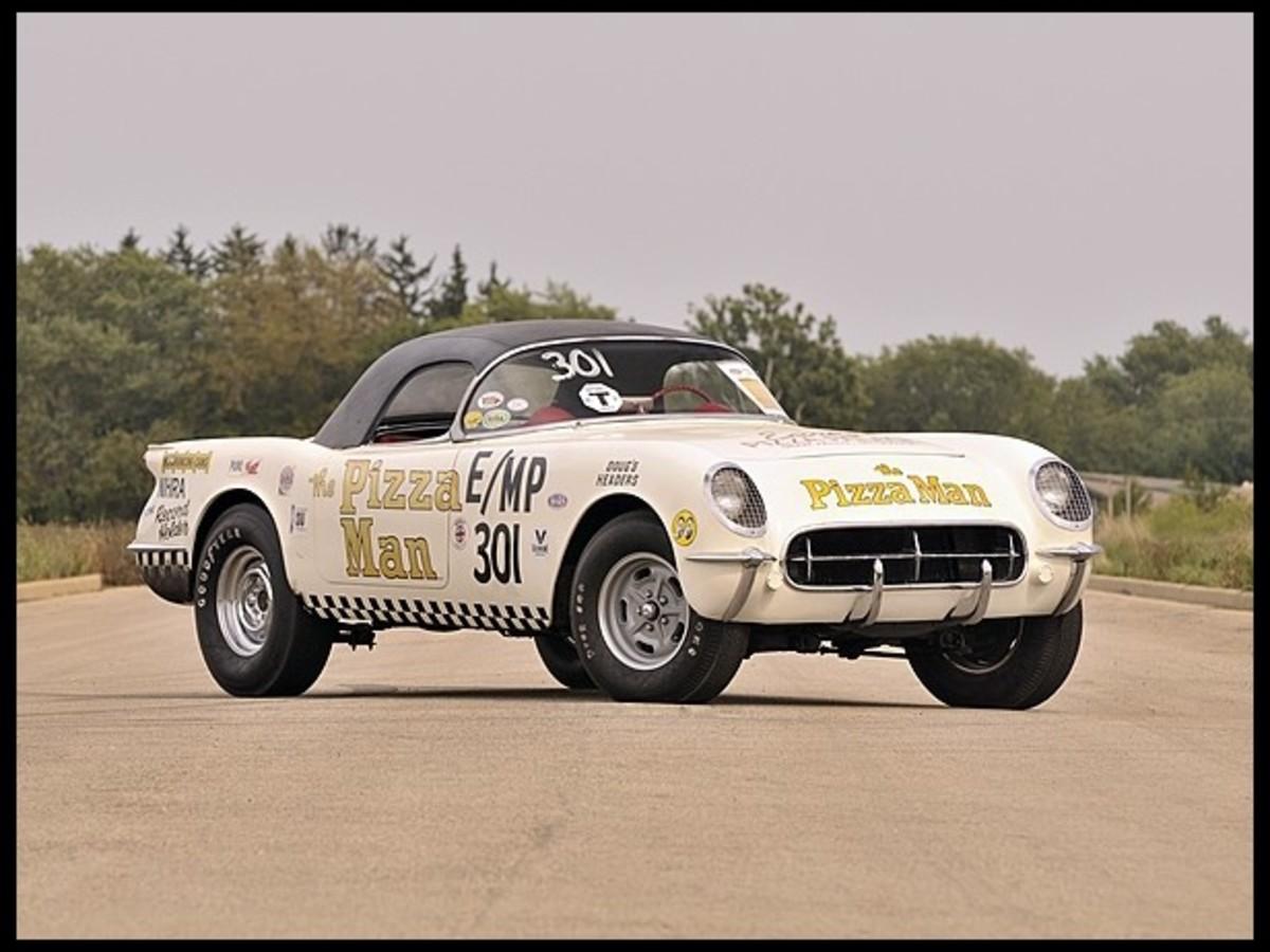"""1954 Corvette Drag Car, """"The Pizza Man"""", Lot S148"""