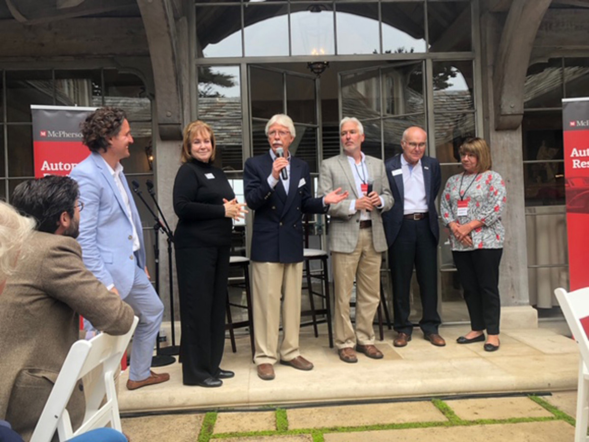 From left – MC President Michael Schneider, Melanie Lundquist, Richard Lundquist, Chris Hammond, Paul Russell and Barbara Russell.