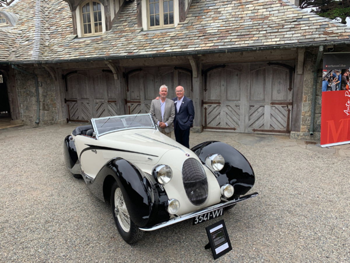 From Left – Chris Hammond and Paul Russell with Talbot-Lago