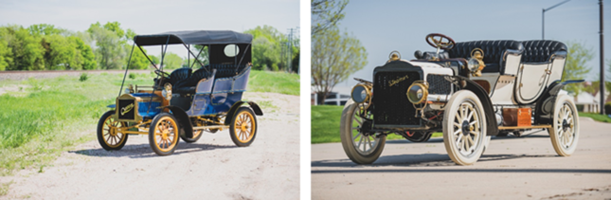 LEFT: 1906 Queen Model E (Darin Schnabel © 2019 Courtesy of RM Auctions)RIGHT: 1906 White Model F Touring (Darin Schnabel © 2019 Courtesy of RM Auctions)