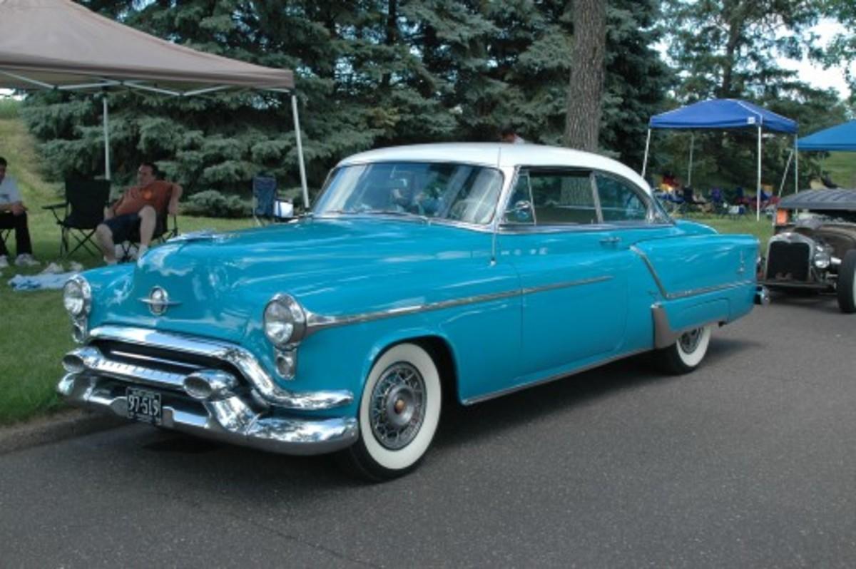 1953 Oldsmobile Ninety-Eight Holiday Coupe.