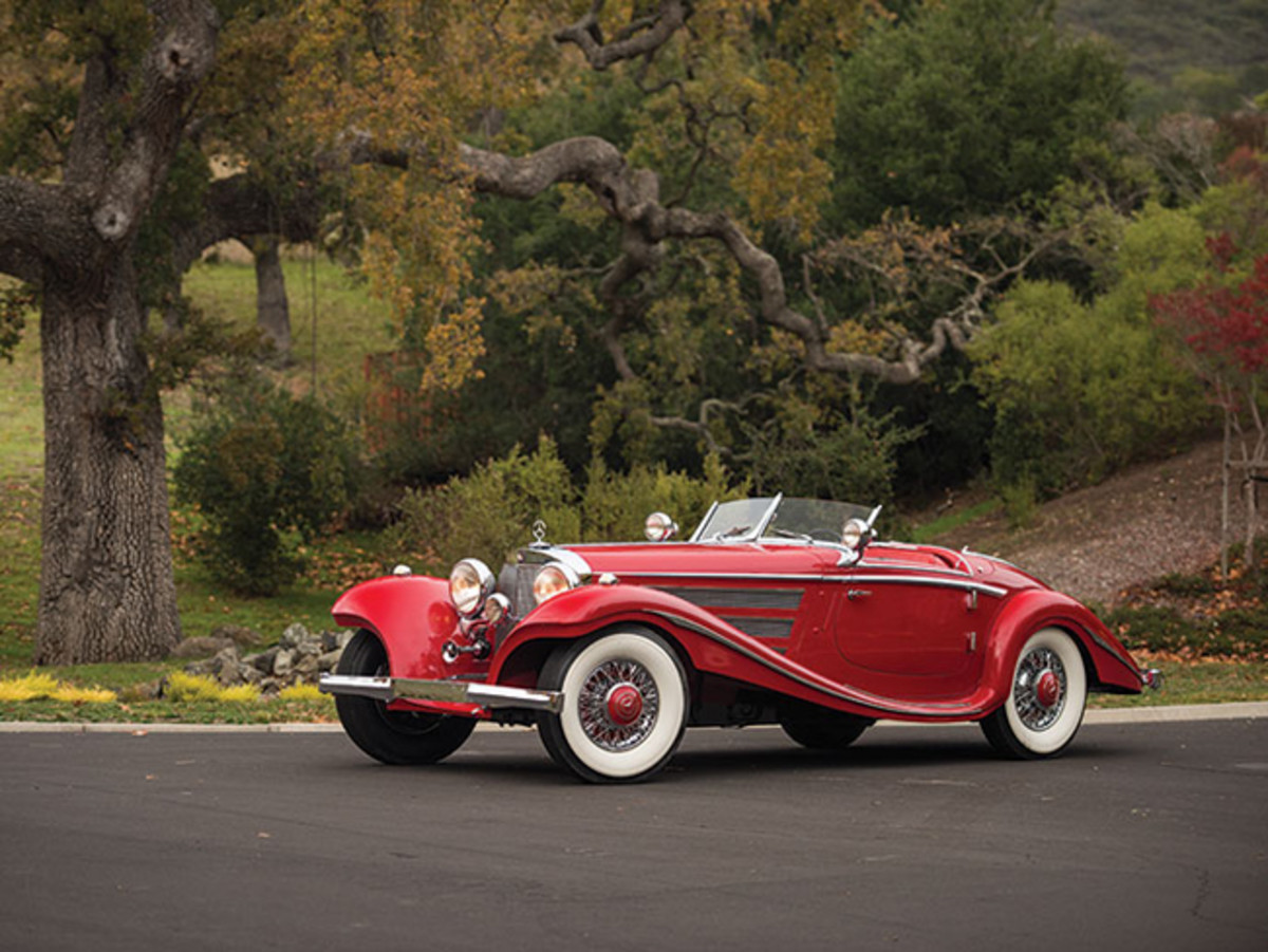 This 1937 Mercedes-Benz 540 K Special Roadster is among the most valuable automobiles on offer during this year's Arizona collector car auctionweek (credit: Darin Schnabel © 2015 courtesy RM Sotheby's)