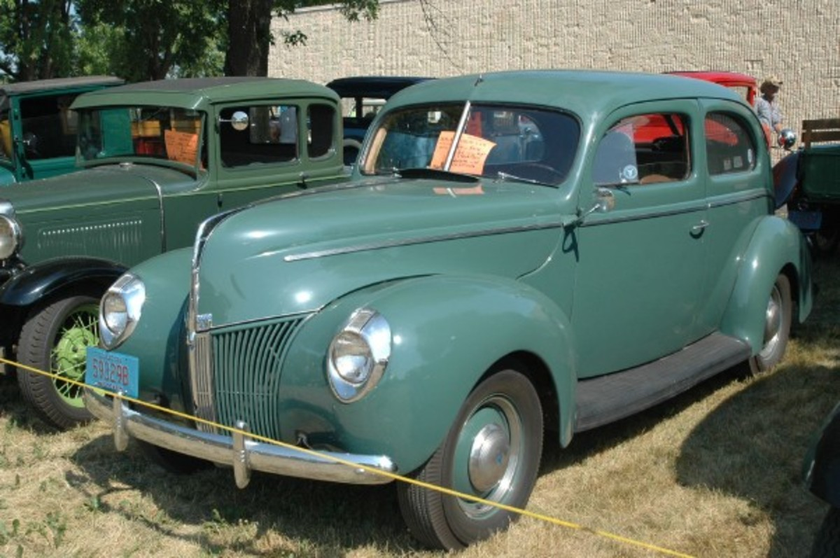 There's no denying the handsome lines of a 1940 Ford Tudor, this example being the V-8 Ford model brought by Steve Davel.