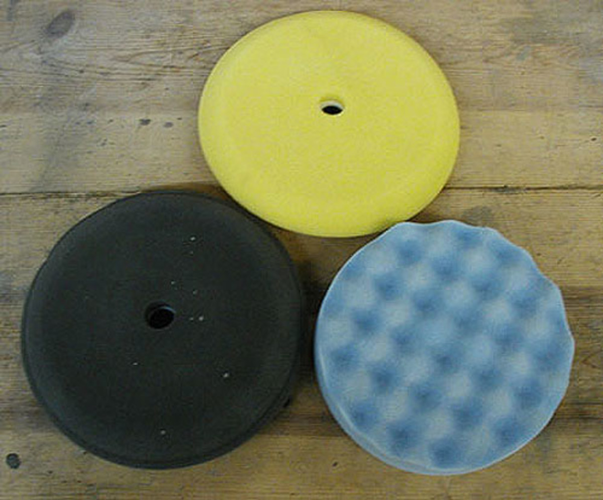 Large buffer pads: black, yellow and blue (very soft).