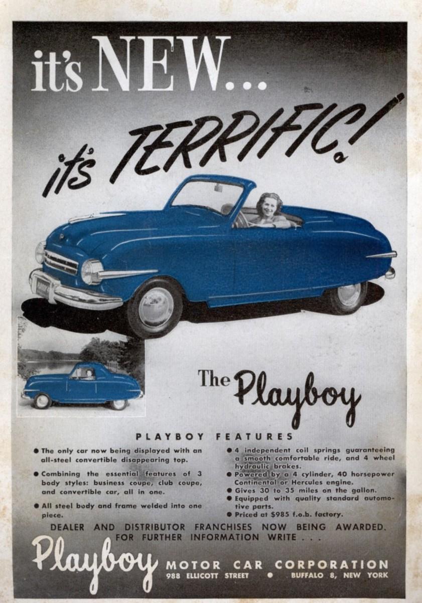 An original ad for the 1946-'48 Playboy car.