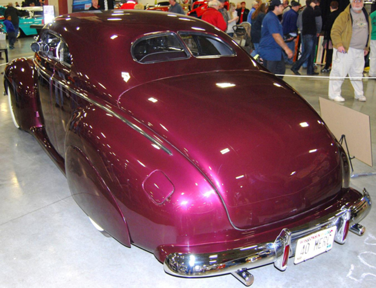 The Merc looked like a page out of early hot rodding history.
