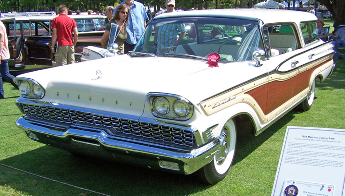 Richard Saute's 1959 Mercury Colony Park uses traditional wood decor on a jet-age design. The restoration of Saute's wagon was finished within days of making its debut at the Concours d'Elegance of America at St. John's, and the work was worthy of Mercury's top-of-the-line wagon offering.