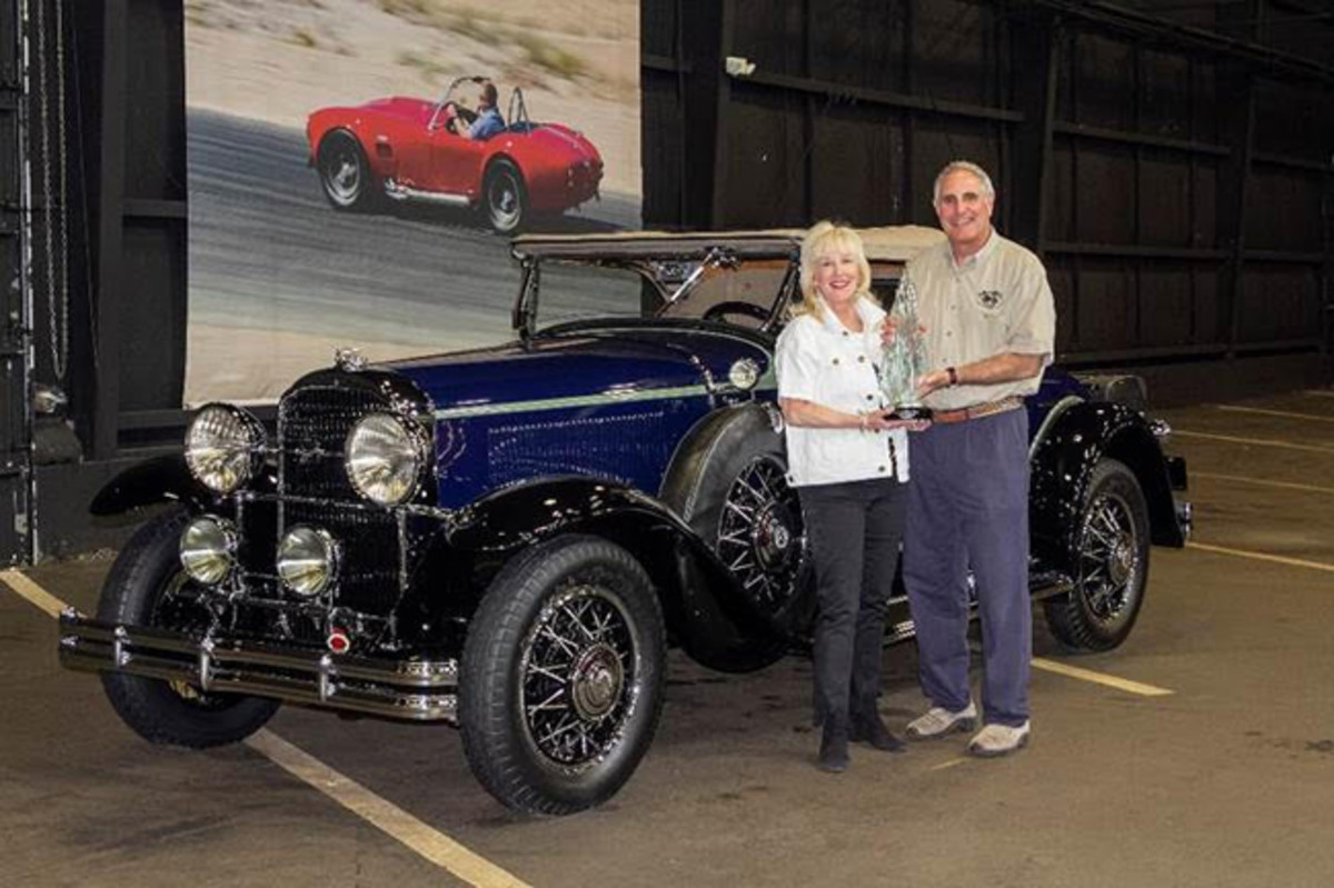 David and Susan Landow with their 1931 Buick 8-94 Sport Roadster, winner of the AACA Annual Grand National Meet 2019 Zenith Award (© 2019 Courtesy of the AACA)