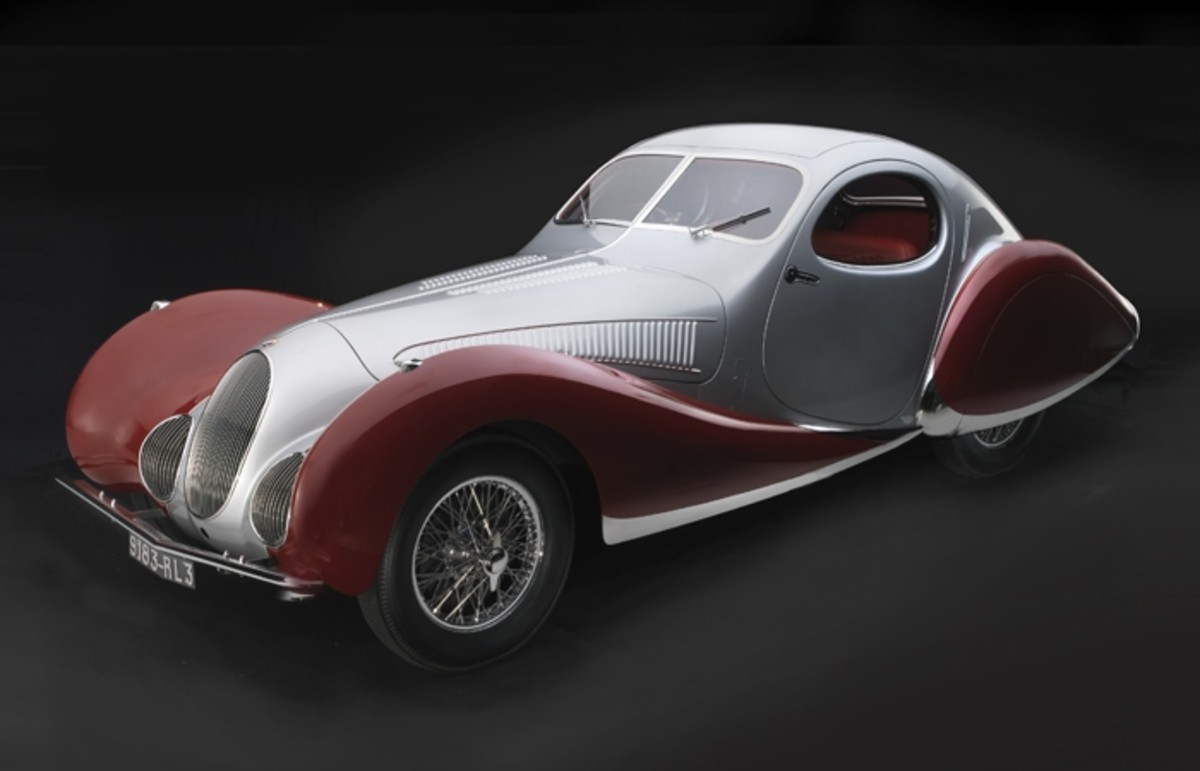 1938 Talbot-Lago T150C-SS Teardrop Coupe. Collection of J. Willard Marriott, Jr. Photograph © 2013 Peter Harholdt