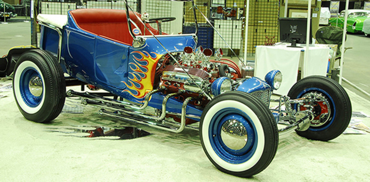 """Norm Grabowski's 1922 Ford Roadster pickup, often called """"Kookie's Kar,"""" which appeared on the cover ofHot Rod MagazineandCar Craft Magazine."""
