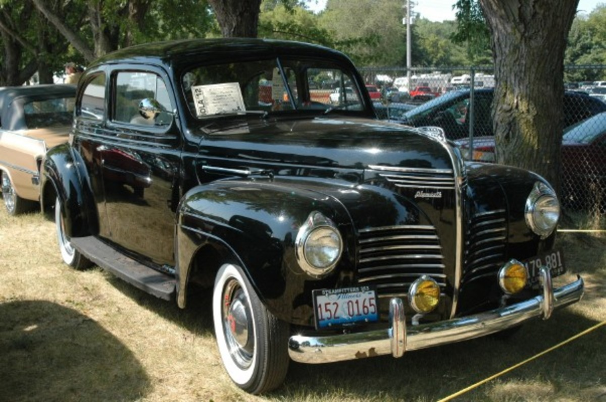 From Peoria, Ill., came Jesse P. Curry Jr.'s 1940 Plymouth Roadking two-door sedan. The jet-black Plymouth was dressed with whitewalls and accessory fog lamps.