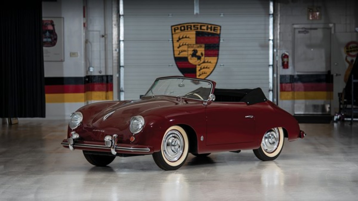 1952 Porsche 356 Cabriolet by Gläser - Chassis No. 12355 Sold for $299,250.Photo - RM Sotheby's