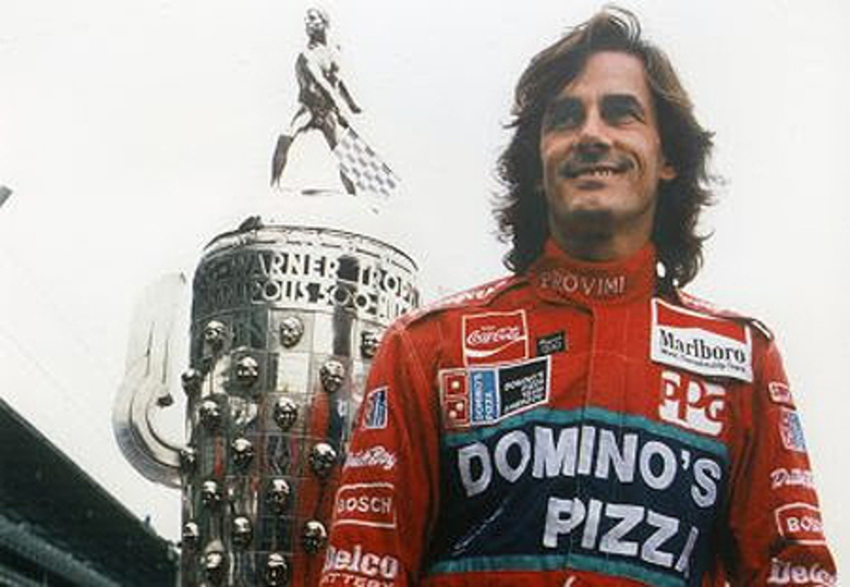 Arie Luyendyk taken after first Indy 500 win in 1990
