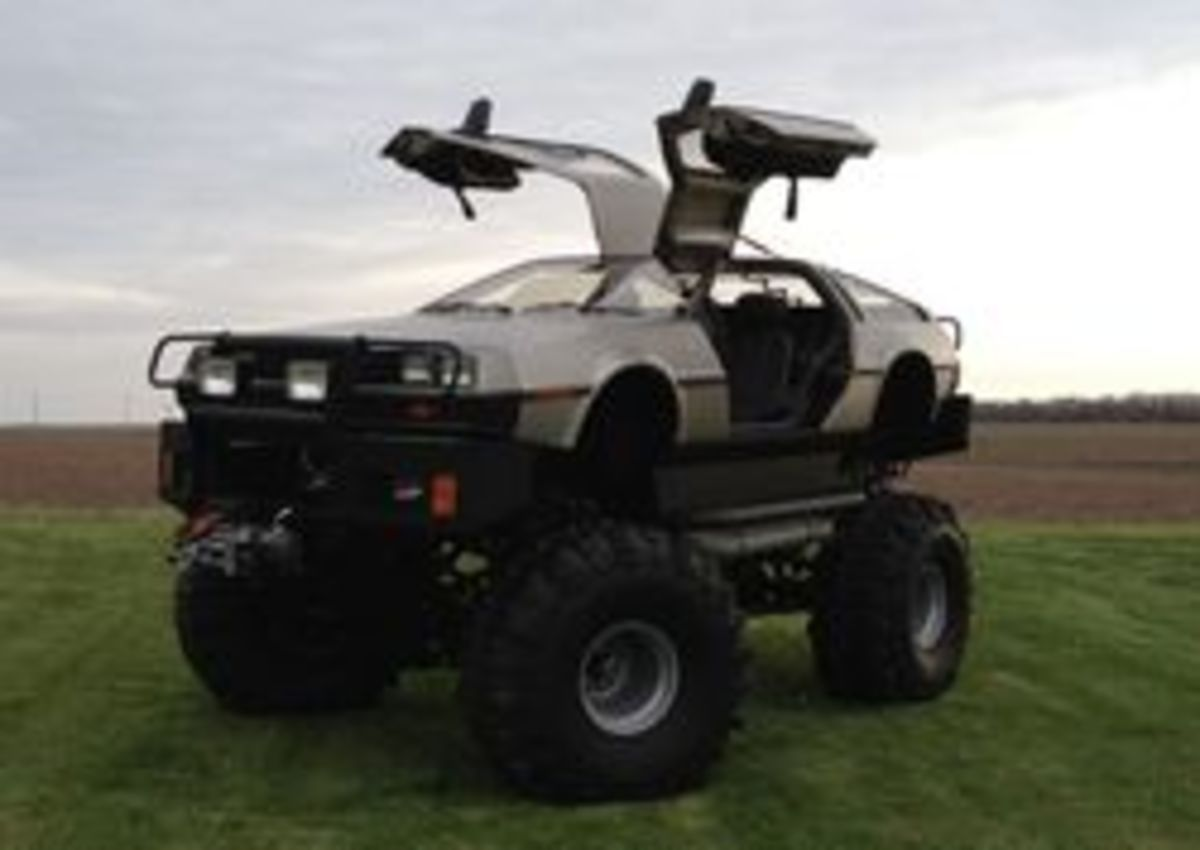 "The ""Back to the Future"" 30th anniversary display will include not only a movie replica DeLorean, but this monster truck as well. (Credit: Rich Weissensel)"