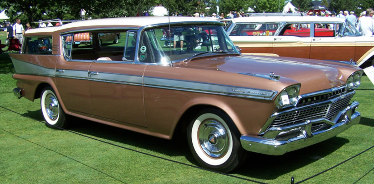 The first four-door hardtop station wagon to hit the highways was the 1958 Rambler Ambassador, and of just 294 built, AMC collectors Frank and Elaine Wrenick's example is one of just two known to exist. Their car has always been loved, and it still retains its original interior, which remains in fine condition. The couple purchased this car in 1981, long after it had been built as a demonstrator at a Holland, Mich., Nash dealership.