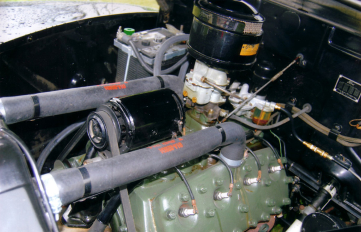 This 221-cid 90-hp flathead V-8 has gone less than 6,500 miles since it left the factory