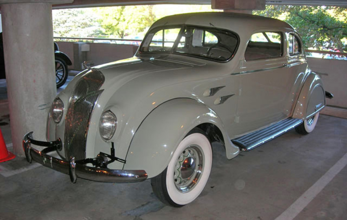 This 1936 De Soto S2 Airflow coupe, 1 of 250 produced, sold for $45,000 at the RM Fall Hershey auction. (Ron Kowalke photo)