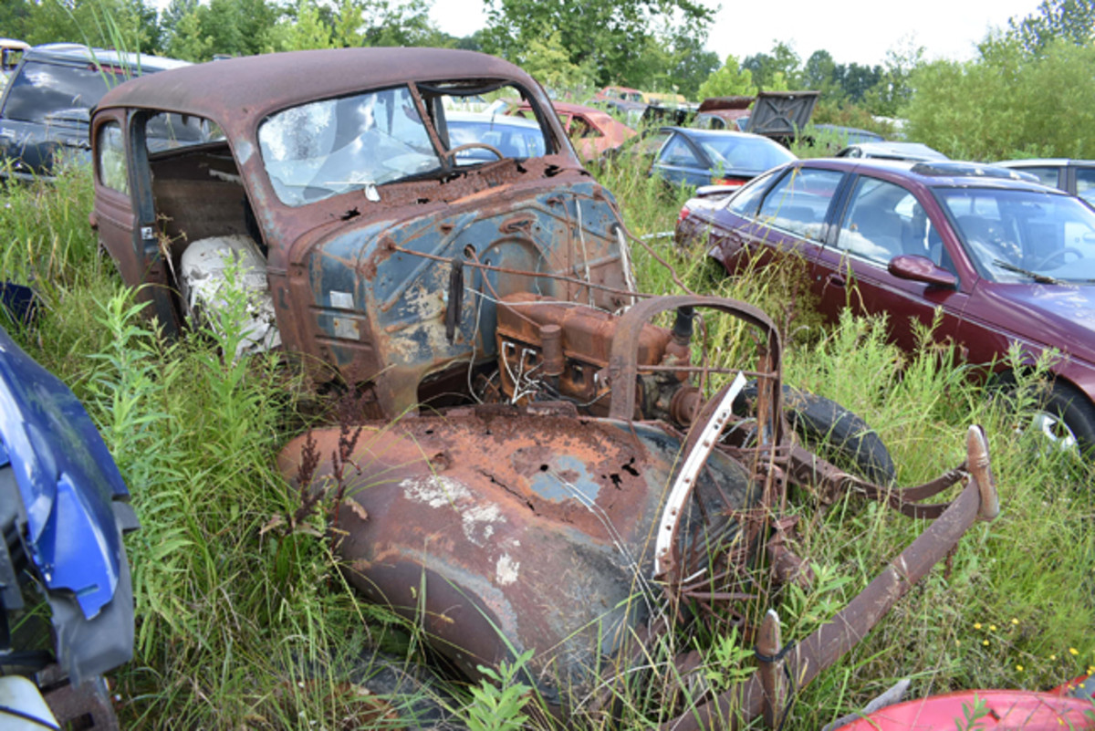 Time and rust have had their way with this 1939 Chevrolet sedan.