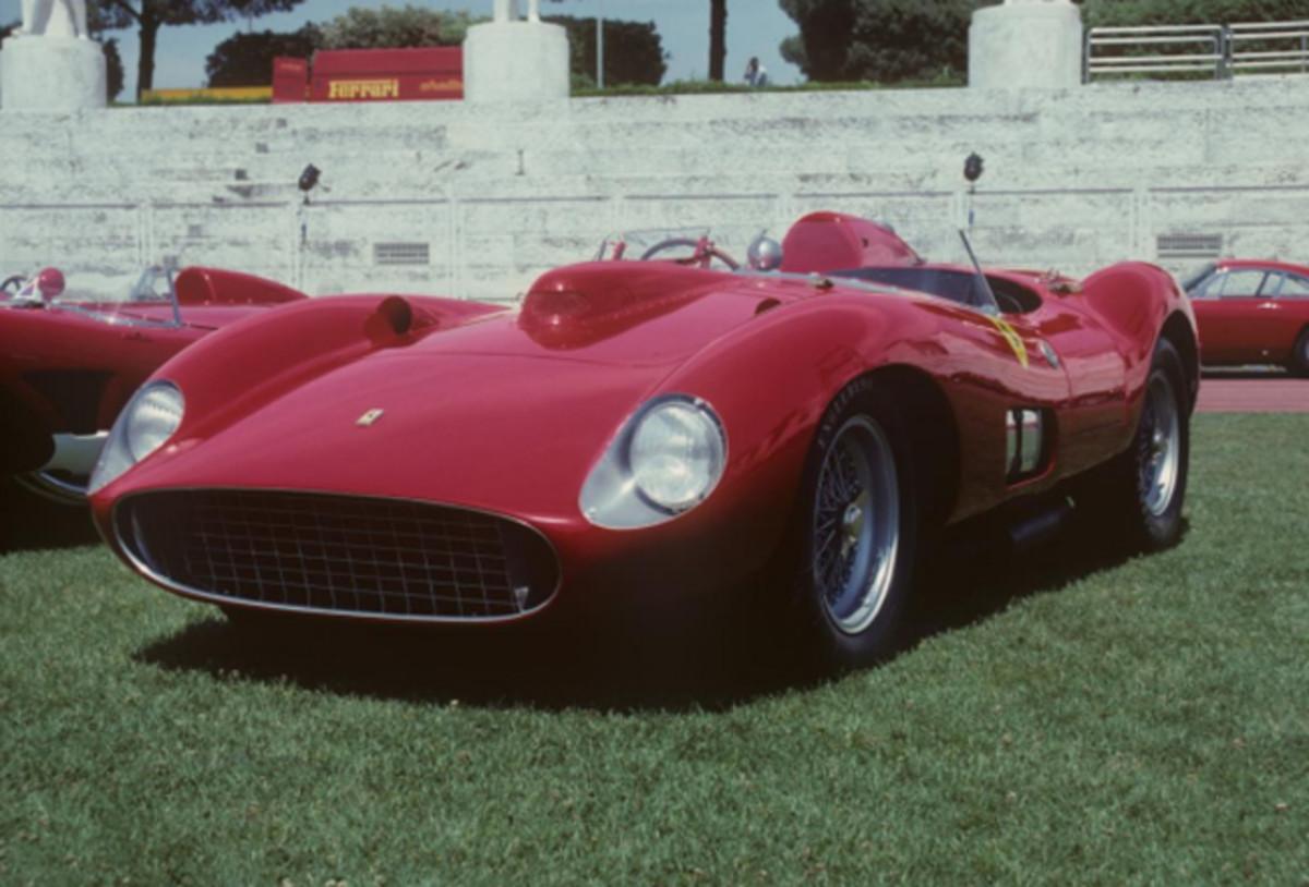 1957 Ferrari 335 S Scaglietti Spider, chassis 0674, Rome 1997, © Marcel Massini