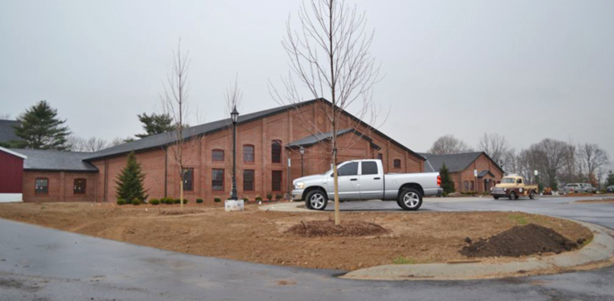 The Automotive Heritage Center nearing completion at the Gilmore Car Museum. (Courtesy Gilmore Car Museum)