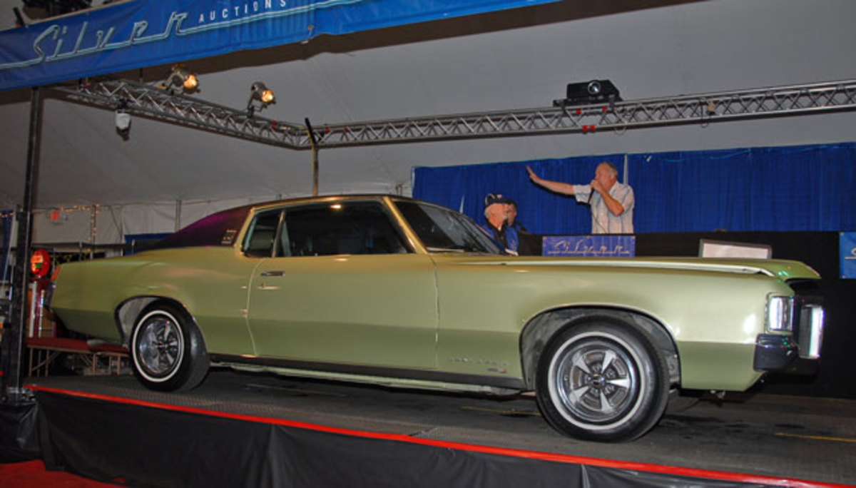 Taking a page directly out of Duesenberg's catalog, there were two varieties of 1969 Pontiac Grand Prix's available. The Model J – like this example that sold for $11,000 – and the sportier Model SJ.